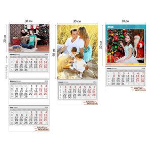 Печать календарей с фото в Подольске цена