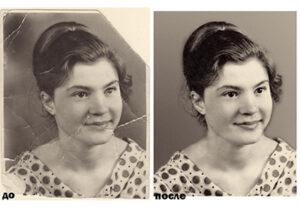 Реставрация и ретушь старых фотографий в Подольске цена
