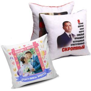 Печать на подушках на заказ в Подольске